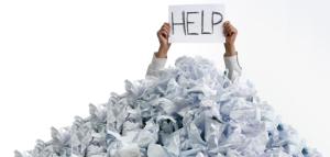 Drowning in paperwork
