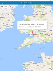 iPad Map Screen